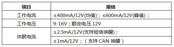 电气性能参数.jpg 车载通讯控制器总成 车身控制 2